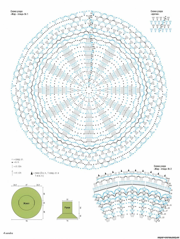 Вяжем круг крючком схемы