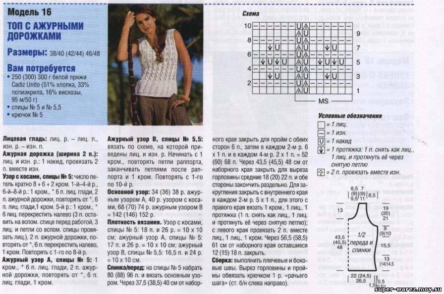 Вязание крючком летние кофточки со схемами и описанием фото 62